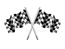Checkered Flag Chequered Flags Motor Racing Stock Vector