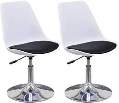 vidaxl 2x küchenstuhl höhenverstellbar drehbar esszimmerstuhl kunstlederstuhl