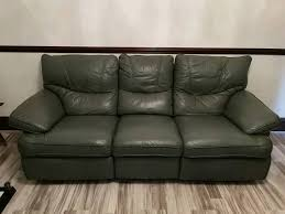 Olive Green Leather Sofas