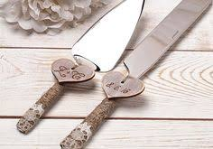 Wedding Cake Server And Knife Serving Set Cutting Rustic Personalized