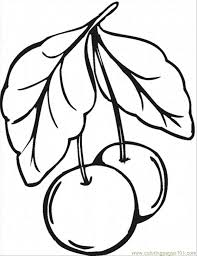 Coloring Pages Cherry 9 Food Fruits Cherries