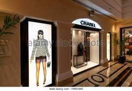 Fashion Shopping On Holiday Display Window Of The Fashionable Chanel Shop Implant Inside 5