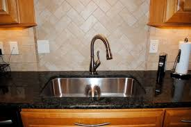 peacock granite tile backsplash smartdivide stainless sink