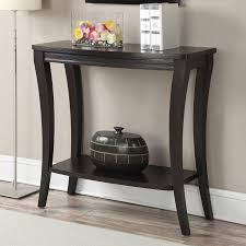 Walmart Larkin Sofa Table by Convenience Concepts Newport Console Table With Shelf Espresso