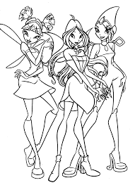 New Winx Club Coloring Pages