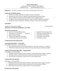 Pharmacist Resume Template Retail