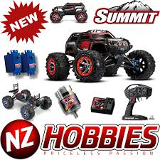 100 Summit Rc Truck Traxxas 560764 110 4WD 4WD Monster RED W TQi Radio