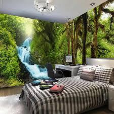 natur landschaft 3d wandbild custom hd hd tropical regen wald brook foto tapete schlafzimmer tv hintergrund wand papier wandbild