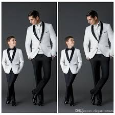 Custom Made 2017 New Fashion Groom Tuxedos MenS Wedding Dress Prom Suits Father And Boy Jacket Pants Bow Formal Wear Best Mens