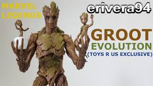 Toys R Us Deluxe Art by Marvel Legends Groot Evolution Figure Review Toys R Us Exclusive