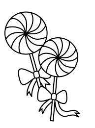 Lollipop Clipart Black And White