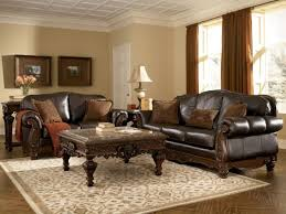 Rustic Leather Living Room Furniture White Chair Sets On Couch And Loveseat