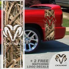 100 Mossy Oak Truck Decals 1500 2500 Ram CAMO Vinyl Stripe Ram Head Dodge