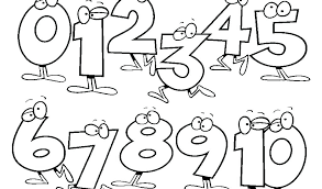 Letters And Numbers Coloring Pages For Kids To Print Out Number Colouring Kid