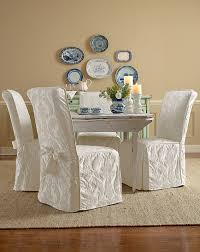 Shabby Chic Dining Room Chair Covers by Dining Chair Ruffled Seat Covers Incredible Home Design
