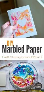 The Best Easiest And Cheapest DIY Marbled Paper Is Done With Shaving Cream Marbling This One Of Our All Time Favorite Art Activities