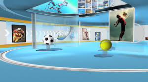 Virtual Studio Sports A31 FREE Chroma Green Screen News Set Background