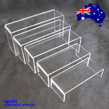 SUPER DEAL Set Of 5 Sturdy Jewellery Display Riser Clear Acrylic