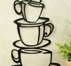 Nice Ideas Coffee Cup Wall Decor Interesting Themed Kitchen Love