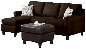 Microfiber Sofas And Sectionals by Amazon Com Acme Vogue Reversible Sectional Chaise Chocolate