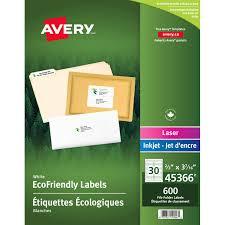 bureau eco label eco avery 3 7 16x2 3 600 pkg 31090 00 45366 fournitures