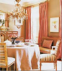 Suzanne Kaslers Dining Room Is Beige With Warm Pink Silk Taffeta Panels The Unusual Color Scheme Came From Stripes In Chair Fabric