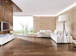 minimalist living room modern with wooden wall and led lighting in