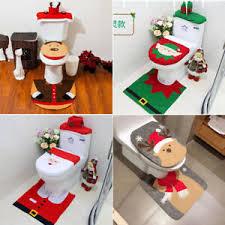 details zu weihnachtsdeko badezimmer wc deckel set nikolaus santa tank toiletten sitzbezug