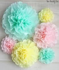 Tissue Paper Pom How To