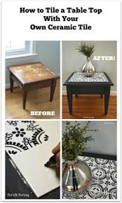 how to tile a table top with your own ceramic tiles thrift