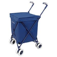 Bed Bath Beyond Baby Registry by Versacart Folding Utility Cart In Navy Bed Bath U0026 Beyond