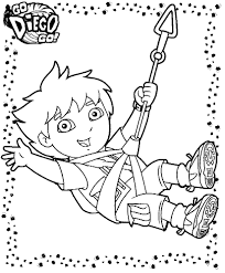 Coloring Pages Dora And Diego 1
