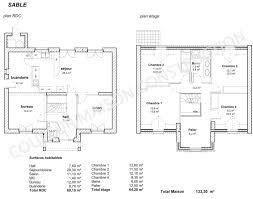 charmant plan de maison 4 chambres impressionnant accueil idées