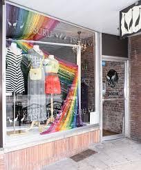 Yarn Shop Window Displays