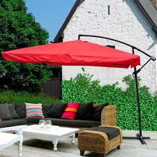 Mosquito Netting For 11 Patio Umbrella by 9x9 U0027 Square Aluminum Offset Umbrella Patio Outdoor Shade W Cross