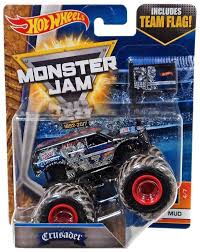 100 Team Hot Wheels Monster Truck Jam 164 Crusader With Flag Mud 47