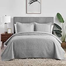 hansleep tagesdecke 200x220 cm wohndecke grau bettüberwurf mikrofaser bettdecke für schlafzimmer stepp decke weich komfort geeignet für bett