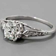 Antique Edwardian Style Platinum EGL Certified 102ct Cushion Cut Diamond Engagement Ring