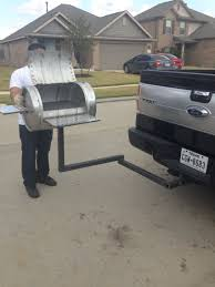 Grill BBQ Pit From A Keg With Detachable Hitch | DIY | Pinterest ...