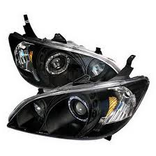 05 honda civic si black halo projector headlights