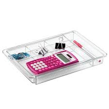 Desk Drawer Organizer Uk by Interdesign Clarity Expandable Drawer Organizer Clear Amazon Co