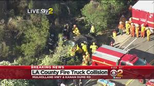 LA County Fire Truck Collides With Vehicle In Deadly Agoura Hills ... Who Will Drive The For Driverless Fire Trucks Ambulance And Fire Truck Accident Royaltyfree Video Stock Tesla Model S Reportedly On Autopilot Crashes Into At Video Crashed I84 15 Hospitalized After 2 Engines Crash In Monterey Park Ktla With Tx Apparatus Leaves One Serious Firehouse Team Of Firefighters By Firetruck On Accident Location Stock Brenham Firetruck Involved In Accident While On Way To Fire Call Ambulance Crash Miami Bomberos Accidentes Two Hurt Vehicle Later Catches Cedar Springs