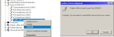 using prolific usb to serial adapters with pc software model