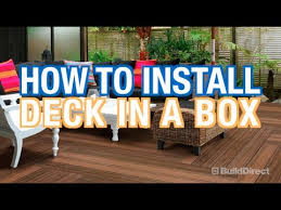 how to install modern deck tiles deck in a box youtube