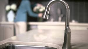 Pull Down Kitchen Faucets Moen by Notch One Handle High Arc Pulldown Kitchen Faucet Moen Features