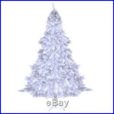 7 FT Tall Artificial Christmas Tree And Metal Stand Base XMAS Fake TREES White