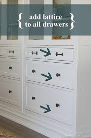Hemnes 6 Drawer Dresser Hack by A Charming Nest Turning Ikea Into Custom Built Ins Part Ii