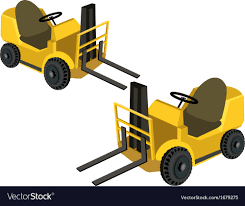 100 Powered Industrial Truck Two Forklift S Royalty Free Vector