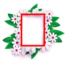 Photo Frame Transparent Background Flowers March 8