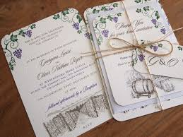 Rustic Vineyard Wedding Invitation Set Paper Pleasures Stationery